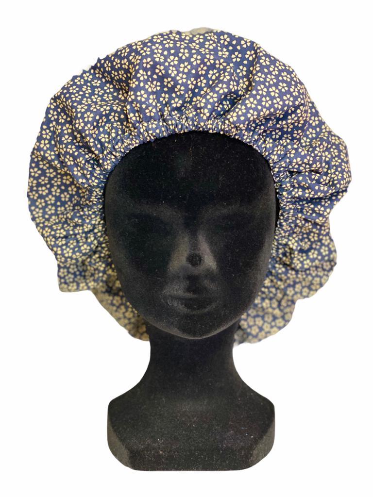 Bonnet Fleurs Bleues
