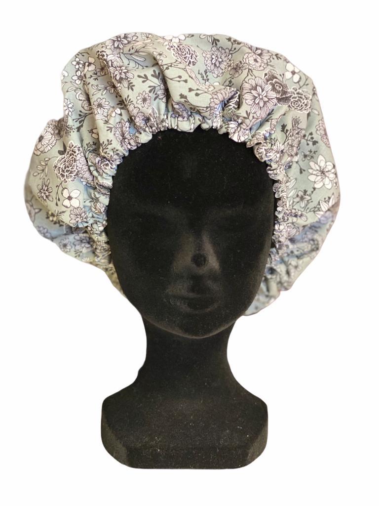 Bonnet Fleurs grises