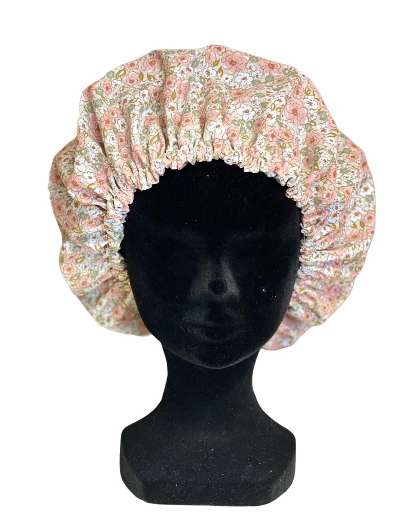 Bonnet Fleurs roses