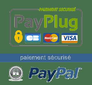 paiement securisé Carte Payplug - Paypal
